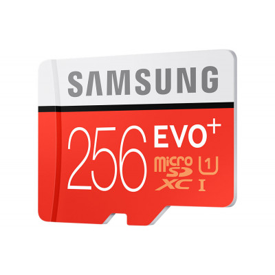 Samsung Micro SD with adaptor 256GB Class 10 R100/W90